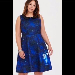 DOCTOR WHO COLLECTION TARDIS SKATER DRESS SIZE 1